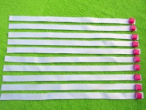 250 x Blank Fabric Wristbands for Sublimation or Vinyl Print,Plastic Clip 15mm