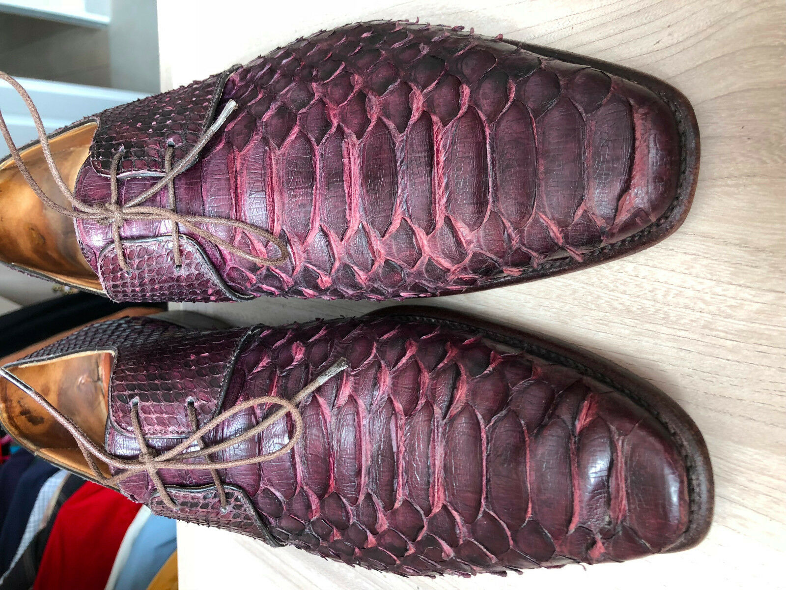 RARE and exotic pair of Paul Smith shoes uk11 original Python Skin