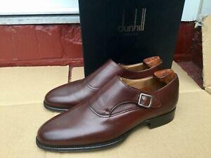 Dunhill-Homme-Marron-Fonce-Mollet-Monkstrap-Chaussures-Cuir-UK-7-EU-41-RRP-495