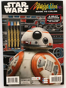 Star-Wars-BB8-Bright-Idea-Coloring-book-With-Crayons-Brand-New