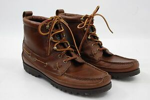 About 5 Moc 9 Lauren B Ankle Brown Country Toe Boots Polo Ralph Men's Casual Leather Details rChQdxBots