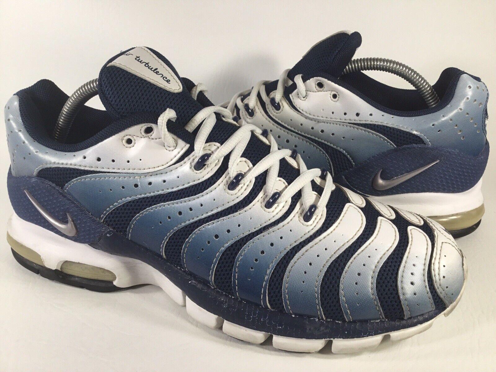 Nike Air Max Turbulence Royal Blau Weiß grau 2004 Mens Größe 9.5 Selten 307802-402