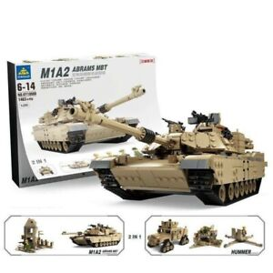 KAZI-KY10000 Bausteine Kinder Militär M1A2 Hauptkampfpanzer Modell 1463PCS OVP