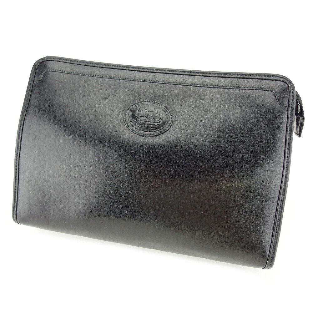 CELINE Clutch Tasche Leder Gebraucht Auth T9714