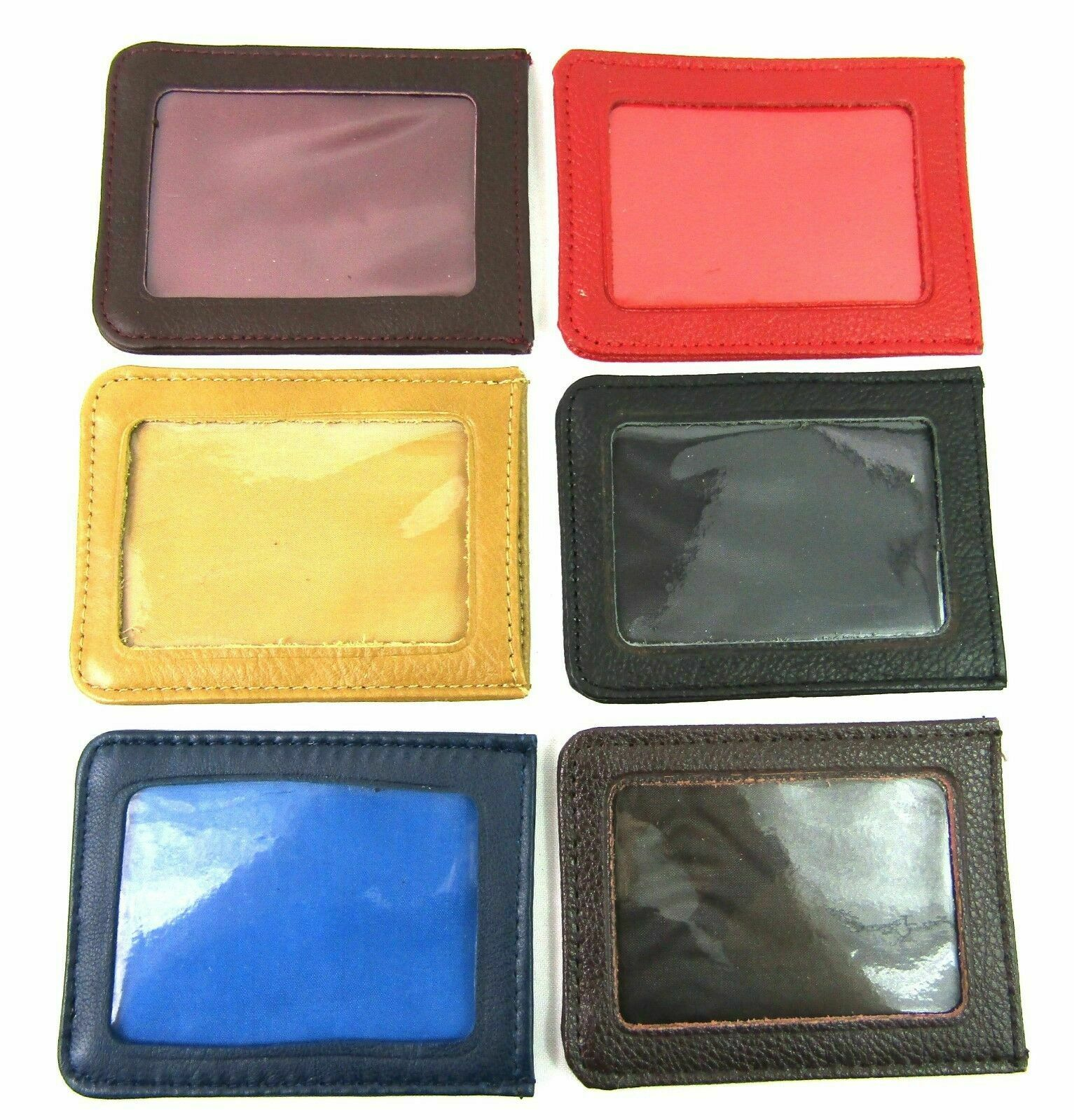 NEW MENS LADIES LEATHER TRAVEL/ BUS PASS/ ID CREDIT CARD HOLDER PASS