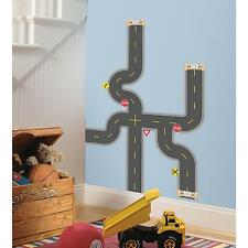 BUILD A ROAD wall stickers 30 decals ROADWAYS SIGNS HIGHWAY CARS TRUCKS party