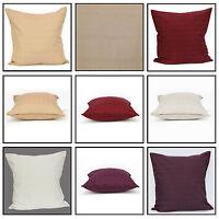 "Jacquard Cushion Cover 100% Cotton Decorative Pillowcase 20x20 & 28x28"" with Zip"