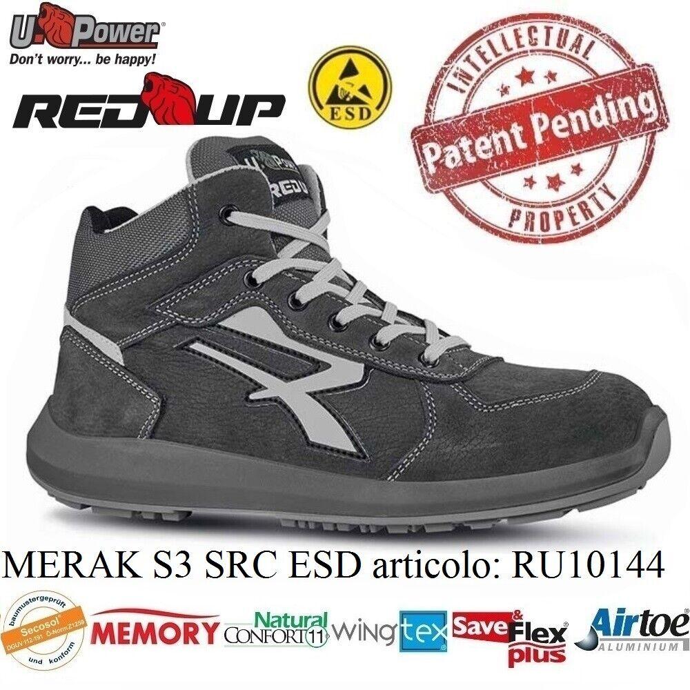 UPOWER chaussures LAVor ANTINFORTUNISTICA MERAK S3 SRC ESD U-POWER RU10144 rouge UP