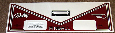 FUTURE SPA Pinball Machine Apron Decal Set LICENSED
