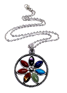 7 chakra flor remolque tanque cadena collar Reiki Heil-meditación