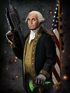 Iconic Arts Laminated 14x19 Poster: George Washington The Original Master C...