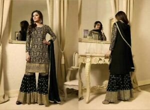 Sharara Plazzo Gown Anarkali Shalwar Kameez Suit Indian Pakistani Designer Dress