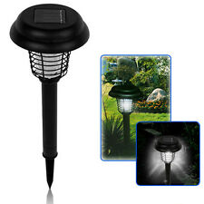 UV LED Solar Powered Outdoor Mosquito Insect Pest Bug Zapper Killer Light Lamp