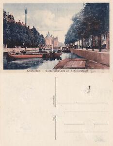 AK-postcard-Amsterdam-Gelderschekade-en-Schreierstoren-stampsdealer