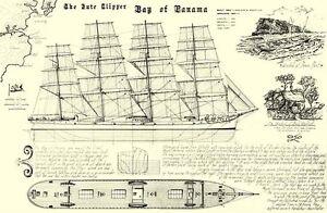 "Bay Of Panama Technical Plans Print Size 24"" X 16"" Planaship Print Rrp £12"