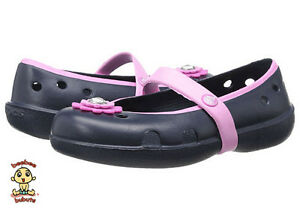 Crocs Shoes Kids Girls Keeley Petal Charm Navy C7 Brand New and Authentic