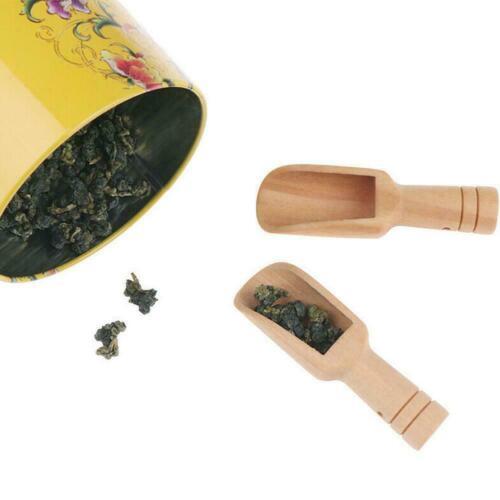 Wooden Small Little Mini Scoop Salt Sugar Coffee Spoon Kitchen Tool HOT I0T4