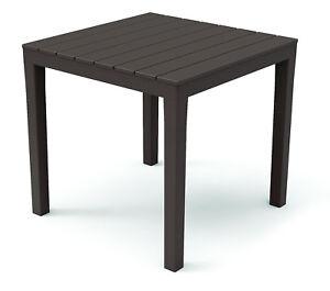 Gartentisch Bali Braun Wetterfest Tisch 80 X 80 Cm Balkontisch Holz