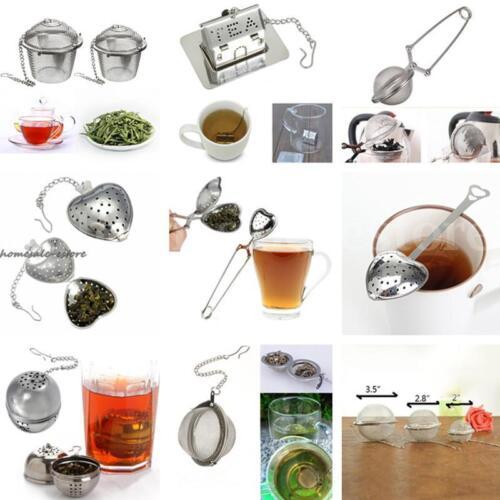 Stainless Steel Tea Strainer Infuser Filter Loose Herb Leaf Steeper Diffuser