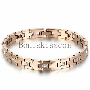 Women-039-s-Charm-Tungsten-Carbide-Health-Powerful-Bracelet-Magnetic-Therapy-Chain