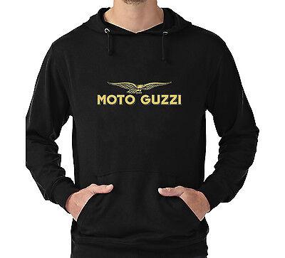 MOTO GUZZI HOODIE SWEATER CAFE RACER MOTORBIKE BIKE LEATHERS ITALY RETRO VINTAGE