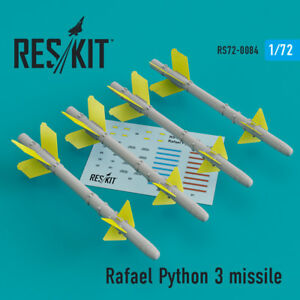 Details about Rafael Python 3 missile (4 pcs) - Resin Upgrade set 1/72  ResKit RS72-0084