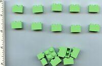 Lego X 20 Medium Green Brick 1 X 2 Bulk Lot