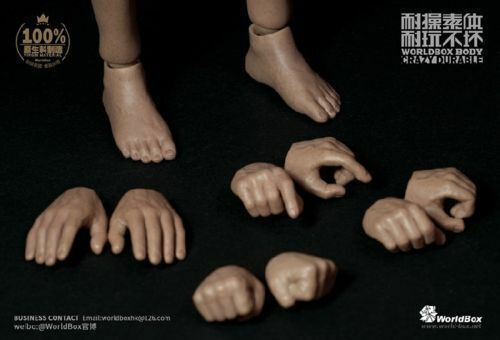 Worldbox AT018 Male Durable Fat Body Doll Model Model Model 1 6 Scale For 12  Action Figure 87b12c