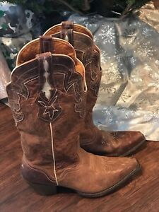 J.B.Dillon Brown GOAT LEATHER PT Women s Cowgirl Boots!!!!! size  10 ... a5cd1c897a