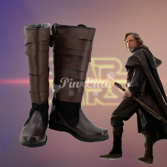 DFYM Star Wars The Last Jedi Cosplay Luke Skywalker Boots Shoes Custom Made