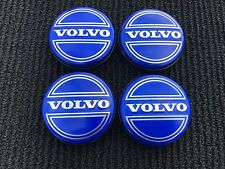 NEW VOLVO SET OF 4 BLUE CENTER WHEEL COVER HUB CAPS EMBLEM RIM BADGE 3546923