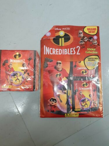 Stickeralbum PANINI THE INCREDIBLES 2 Sticker Collection 50 Paquets 250 stickers