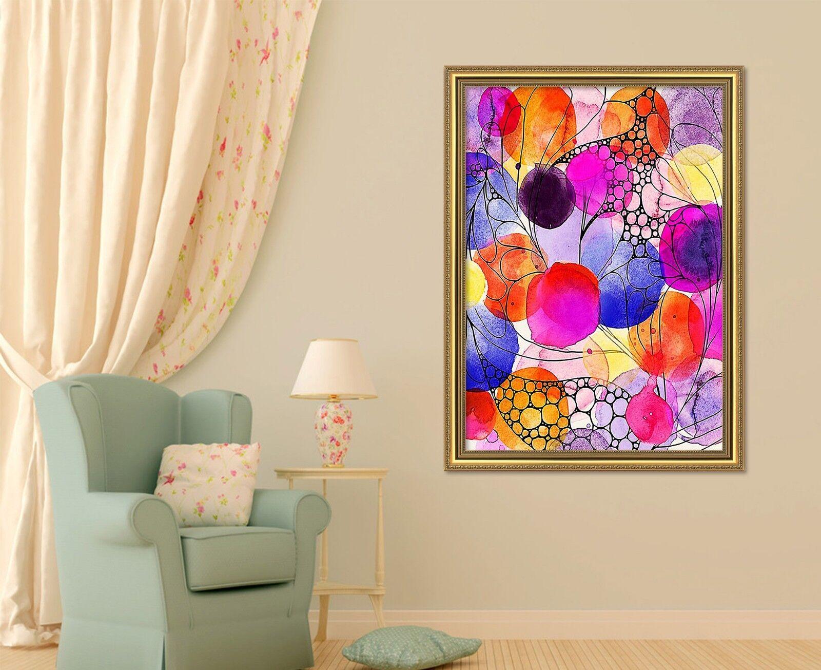 3D Couleur De Peinture 47 encadrée Poster Home Decor imprimer peinture art AJ UK