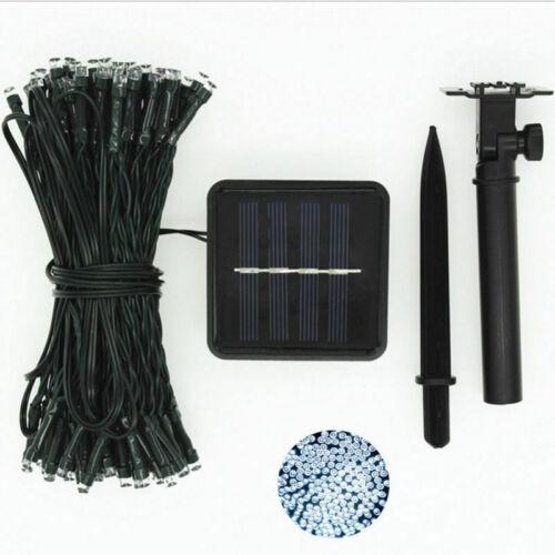 12M 100LED Solar Power Fairy Light String Lamp Party Xmas Decor Garden Outdoor K