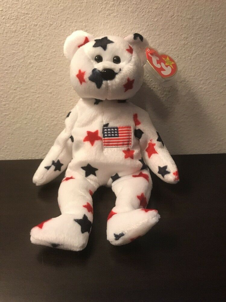 Ty Beanie Baby  GLORY  the Bear with Tag Errors RARE     - DOB 1997