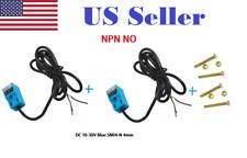 2 Pcs Npn Inductive Proximity Sensor Detection Switch No Dc 10 30v Sn04 N 4mm
