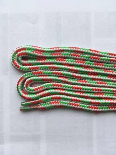 1 Pair Red White /& Green Replacement Shoe Lace 105cm 4mm Round