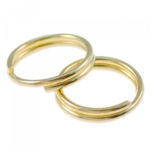 100 Spaltringe 7mm silber gold bronze schwarz Binderinge Doppel Ringe Verbinder