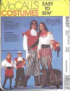 8437-UNCUT-McCalls-Sewing-Pattern-Adult-Child-Pirate-Sea-Wench-Costume-Halloween
