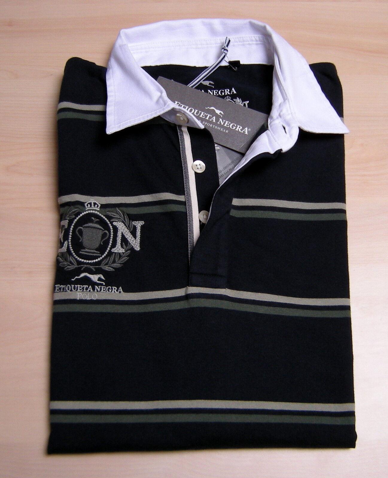 Jersey rugby ETIQUETA NEGRA Man Men Embroidery jersey 100% Original Nwt blueE