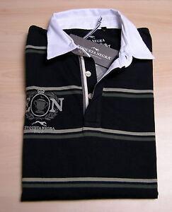 Maglia-rugby-ETIQUETA-NEGRA-Uomo-Men-Ricami-maglia-100-Originale-Nwt-BLU