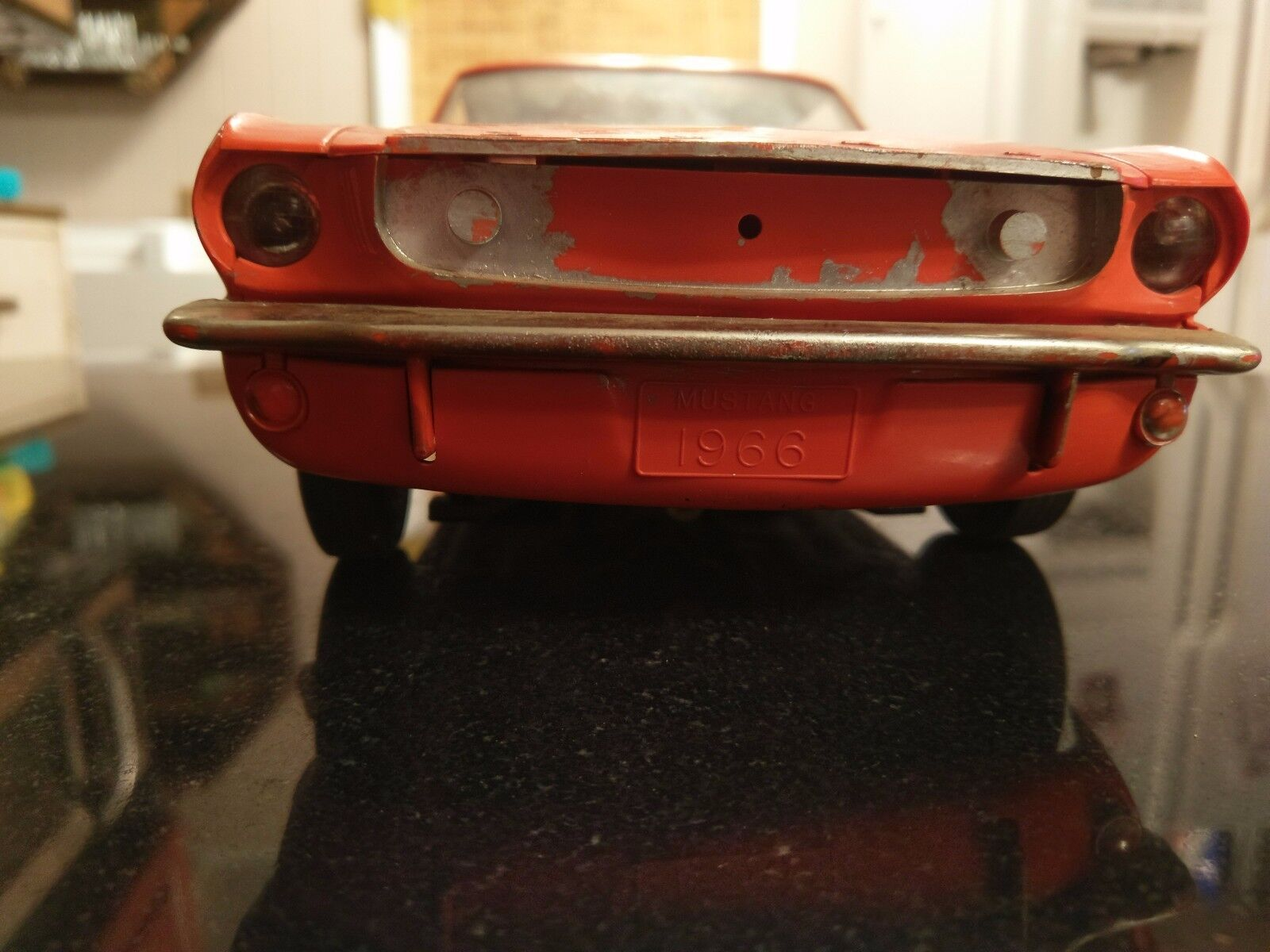 Large scale 1966 Mustang Battery Operated Dealer Given When When When Dad bought a Car 77d96d