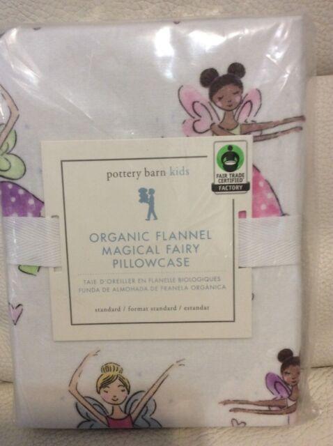 Pottery Barn Kids Organic Flannel Magical Fairy Standard