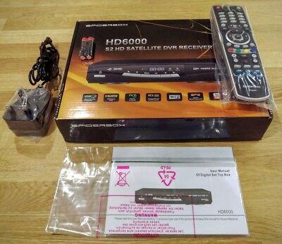 Spiderbox Hd 6000 Costruito In Wifi Ad Alta Definizione Da Satellite + Darkgold Lnb 0.1db-