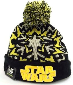 f3b20c6d2 Details about STAR WARS New Era Glowflake Glow Dark Winter Beanie Knit  Skull Pom NWT Cap Hat