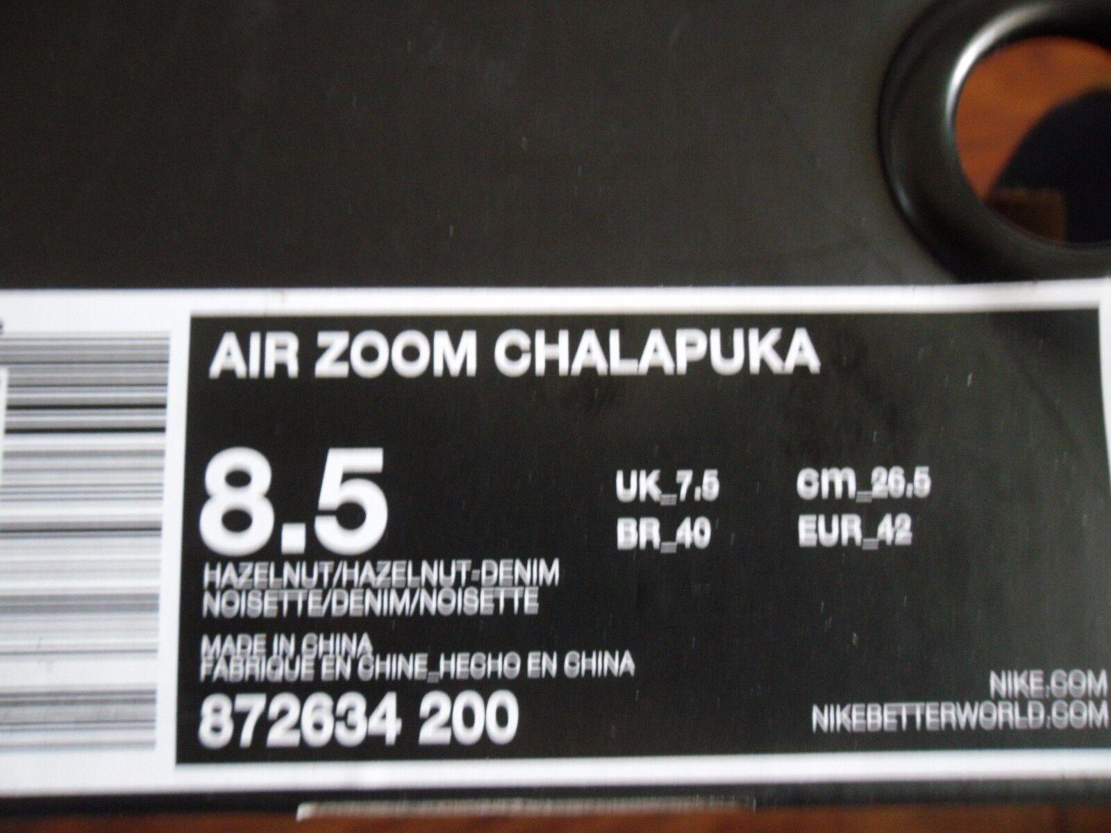 NIKE AIR ZOOM 8.5 CHALAPUKA NIKELAB HAZELNUT-DENIM BLUE SZ 8.5 ZOOM [872634-200] 54cc90