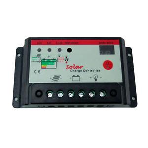 Solar Charge Controller 12v 24v 10a Pwm Battery Regulator