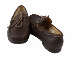 UGG-Hendricks-Mens-Grizzly-Brown-Leather-Slip-On-Loafer-Shoes-size-11