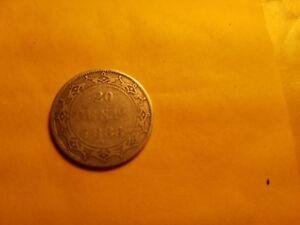 1888-Newfoundland-20-Cent-Twenty-Cent-Silver-Coin-Rare