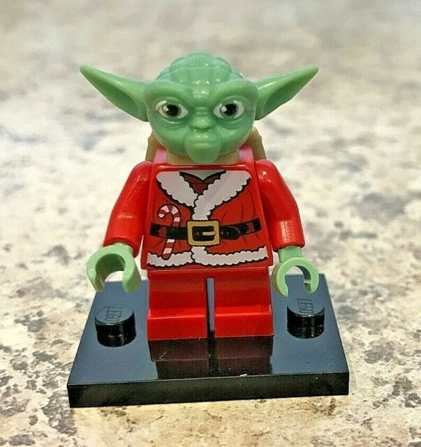 Genuine LEGO STAR WARS Minifigure - Santa Yoda - Complete - sw0358